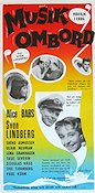 Musik ombord 1958 Movie poster Alice Babs