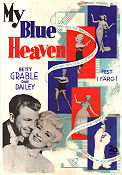 My Blue Heaven 1950 poster Betty Grable
