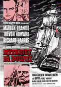 Mutiny on the Bounty 1962 poster Marlon Brando Lewis Milestone