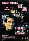 The Naked Face 1984 poster Roger Moore Bryan Forbes