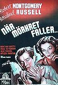 Night Must Fall 1938 poster Robert Montgomery