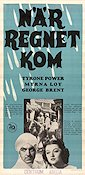 The Rain Came 1940 poster Tyrone Power