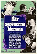 N�r syrenerna blomma 1952 Movie poster Nine-Christine J�nsson