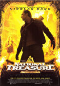 National Treasure 2004 Movie poster Nicolas Cage
