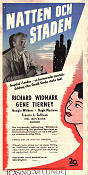 Night and the City 1950 poster Richard Widmark