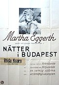 Nätter i Budapest 1936 Movie poster Martha Eggerth