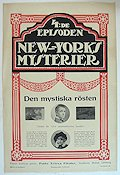 New Yorks mysterier 4 1917 Movie poster Elaine Dodge