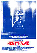 Nighthawks 1981 Movie poster Sylvester Stallone Bruce Malmuth