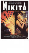 Nikita 1990 Movie poster Anne Parillaud Luc Besson