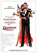 Octopussy 1983 Movie poster Roger Moore