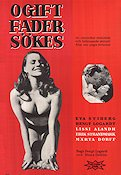 Ogift fader s�kes 1953 Movie poster Eva Stiberg