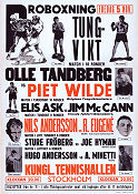 Film poster Boxing Olle Tandberg 1948