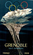 Olympic Games Grenoble 1968 poster