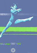 Olympic Games München Gymnastics 1972 poster