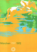 Olympic Games München Horses 1972 poster