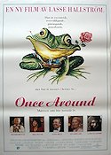 Once Around 1990 Movie poster Richard Dreyfuss Lasse Hallstr�m