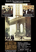 Once Upon a Time in America 1984 Movie poster Robert De Niro Sergio Leone