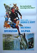 The Day of the Dolphin 1974 Movie poster George C Scott Mike Nichols