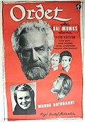 Ordet 1943 Movie poster Victor Sj�str�m Gustaf Molander