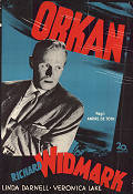 Slattery's Hurricane 1949 Movie poster Richard Widmark Andre dee Toth