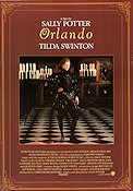 Orlando 1992 Movie poster Tilda Swinton Sally Potter