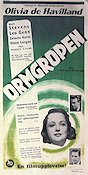 The Snake Pit 1949 Movie poster Olivia de Havilland