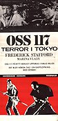 OSS 117 terror i Tokyo 1967 Movie poster Frederick Stafford