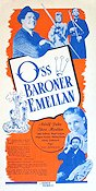 Oss baroner emellan 1940 Movie poster Adolf Jahr