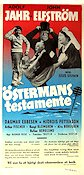 Östermans testamente 1954 Movie poster Adolf Jahr