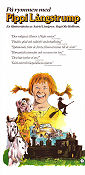 Pippi on the Run 1970 poster Inger Nilsson
