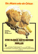 Papillon 1974 Movie poster Steve McQueen
