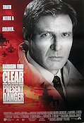 Clear and Present Danger 1994 Movie poster Harrison Ford