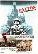 Patton 1970 Movie poster George C Scott Franklin J Schaffner