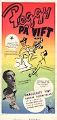 Peggy p� vift 1946 Movie poster Marguerite Viby Arne Mattsson