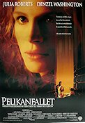 The Pelican Brief 1993 Movie poster Julia Roberts