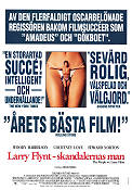 The People vs Larry Flynt 1998 Movie poster Woody Harrelson Milos Forman