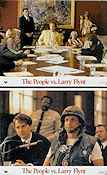 The People vs Larry Flynt 1998 lobby card set Woody Harrelson Milos Forman