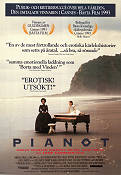 The Piano 1992 Movie poster Holly Hunter Jane Campion