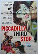 Piccadilly Third Stop 1962 Movie poster Terence Morgan