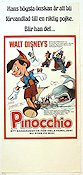 Pinocchio 1940 Movie poster Pinocchio