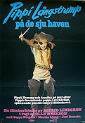 Pippi in the South Seas 1970 Movie poster Inger Nilsson