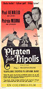 Pirates of Tripoli 1955 poster Paul Henreid Felix E Feist
