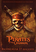 Pirates of the Caribbean 2003 poster Johnny Depp Gore Verbinski