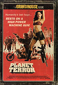 Planet Terror 2007 Movie poster Rose McGowan Robert Rodriguez