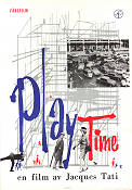 Playtime 1968 Movie poster Barbara Dennek Jacques Tati