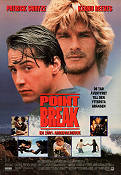 Point Break 1991 Movie poster Patrick Swayze