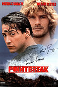 Point Break 1991 poster Patrick Swayze Kathryn Bigelow