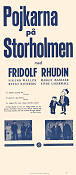 Pojkarna på Storholmen 1932 Movie poster Fridolf Rhudin