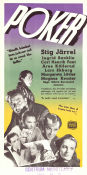 Poker 1951 Movie poster Stig J�rrel