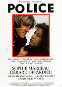 Police 1985 Movie poster Sophie Marceau Maurice Pialat